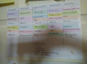 Saliha timetable