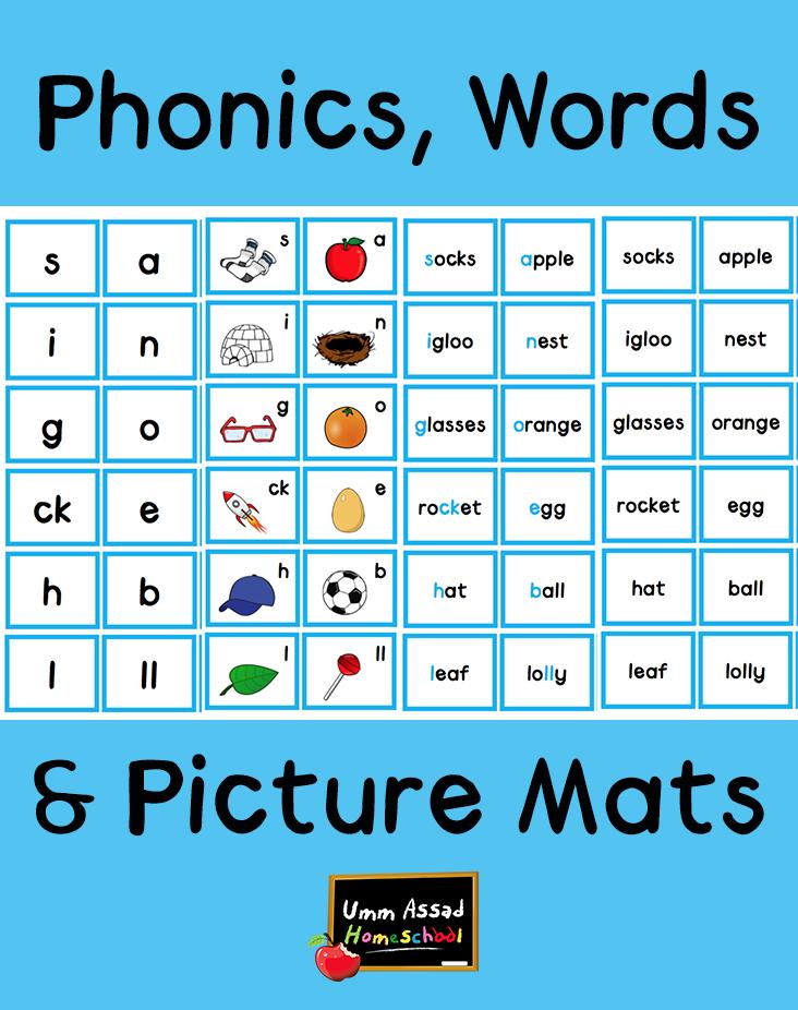 Phonics, Words & Pictures Mats – Umm Assad Home School